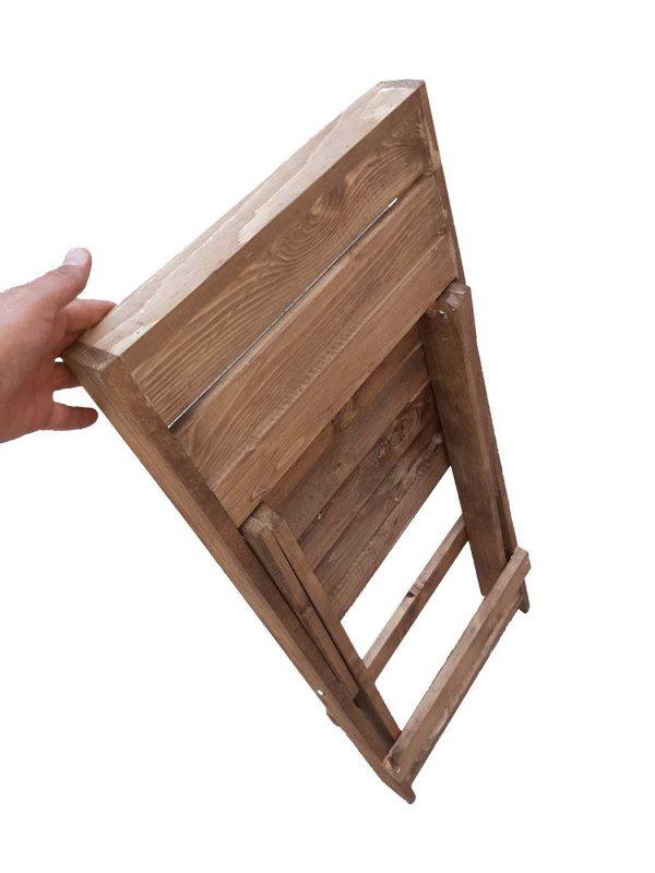 جمع کردن صندلی چوبی تاشو 2 نفره