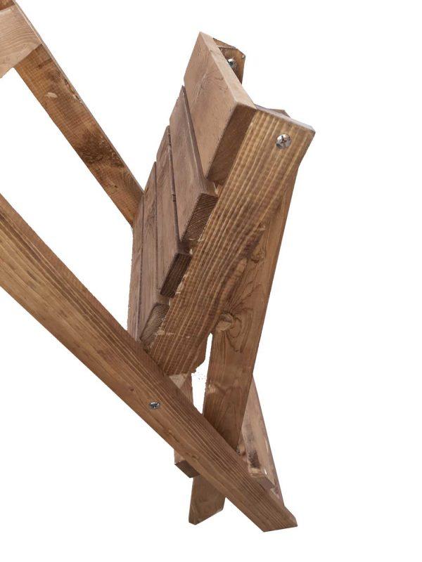 نحوه ی باز کردن صندلی چوبی